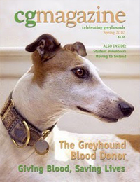 Cover of Celebrating Greyhounds Magazine