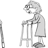 Senior citizens cartoon
